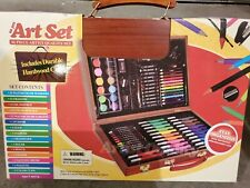 Style Asia Art Set 86 Piece with Wood Case Paint Crayon Markers Glue Ruler Color