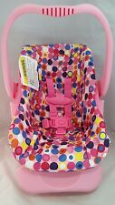 Car Seat Doll Toy Pink Dot New Joovy Play Pretend Imagination Preschool Kids
