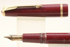 Vintage (c1958) Parker Duofold Slimfold Medium Fountain Pen, Burgundy