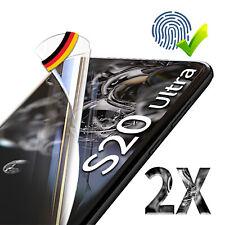 2x Panzer Folie 3D Samsung Galaxy S20 Plus / S20 Ultra Display Schutzfolie KLAR