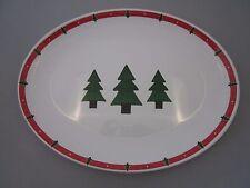 OVAL MELAMINE CHRISTMAS DESIGN SERVING PLATTER TRAY *LAST ONE*