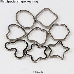 Flat key ring opening key ring star flower oval mouse shape creative key ring