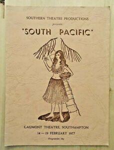 South Pacific programme Southampton Gaumont Theatre 1977 Southern Theatre Prod.