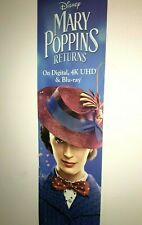 MARY POPPINS RETURNS - Poster Sign - RARE Disneyana Film Memorabilia Walt Disney
