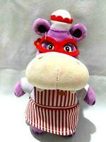 Disney Doc McStuffins Hallie Purple Hippo Nurse Plush Soft Stuffed Doll Toy