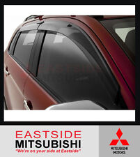 GENUINE MITSUBISHI ASX XA XB XC SLIMLINE WEATHERSHIELD SET OF 4 - MZ562868EX