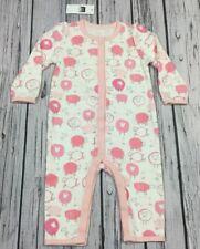 Baby Gap Girls 6-9 Months One-Piece Romper. Pink, White, Gray Sheep Romper. Nwt