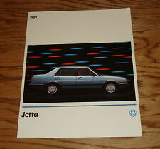 Original 1989 Volkswagen VW Jetta Sales Brochure 89
