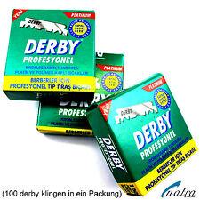 100 x confezioni Derby LAMETTE RASOIO sostituibile per rasoio Rasoio lame