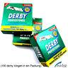 100x Packungen Derby Rasierklingen auswechselbar für Rasiermesser razor blades