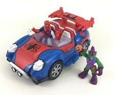 Super Hero Adventures Squad Spider-Man Crime Cruising Car Toy Playskool Marvel