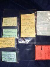 Ohio Fishing License & Receipts 7 Rare tourist & Non-Resident 1990'S Oh lot