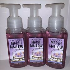 3 Bath & Body Works LAVENDER MARSHMALLOW Gentle Foaming Hand Soap 8.75oz NEW