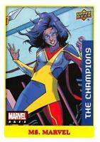 Marvel Ages 2021 (UD) LOW SERIES STICKER PARALLEL BASE Card #7 / MS. MARVEL