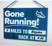 Gone Running  Dry Wipe Sign