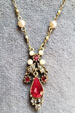 New ListingSweet Romance Stunner Swarovski Crystal Necklace - Gorgeous Red Crystals