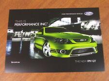 2006 (the new) FPV GT original Australian single page brochure