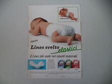 advertising Pubblicità 1984 PANNOLINO LINES SVELTO