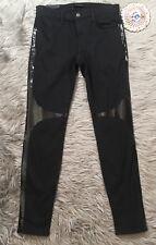 J BRAND 620 Black Dahlia Super Skinny Vinyl Jeans Shiny Finish Detail Sz 29 8
