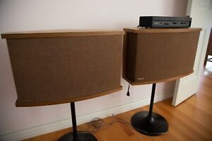 Bose 901 Series VI Speakers with Equilizer and Stands