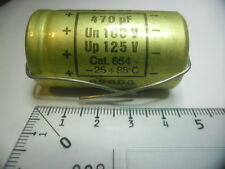 MICRO TC 85 470µF Un100V.Up125+85°C.BSGDG.CONDENSATOR.
