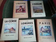 LOT 5 LIVRES ANCIENS 1937-1951 ÉGYPTE/ESPAGNE/PARIS/LA CORSE/LONDRES ÉD. NATHAN
