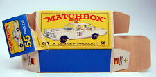 "Matchbox RW Nr.55C Ford Galaxy Police Car leere originale ""E"" Box"