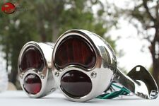 Model A Stainless Taillamp Stop Lens Chrome Bracket Set Custom Truck Hot Rat Rod