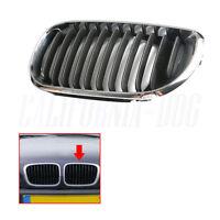 Left Front Grille Black Chrome For BMW 3 E46 4DR SALOON /ESTATE 2001-2005