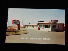 Vintage Postcard, FORT WILLIAM, ONTARIO, ON, CANADA, Fort Motel On Highway 61