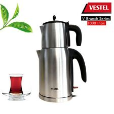Vestel Elektrischer Teekocher Teebereiter Wasserkocher Edelstahl ca. 2200W 1,7l