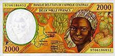 East African States - Tchad banconota nove di 2000 franchi pick 603f UNC