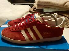 Adidas Gazelle Og Uk 9 Rare Trainers burgundy red 80s casuals 2009 liverpool