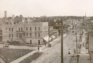 8x10 photo print: Hartford Wisconsin WI, Main Street, 1913 sepia, horses buggies