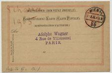 ÖSTERREICH 1895 AUSLANDSKARTE, WIEN Nach PARIS (Frankreich)