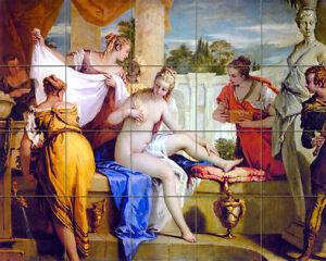 30 x 24 Art Sebastiano Ricci Tumbled Marble Mural Bath Backsplash Tile #454