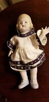 VINTAGE SHACKMAN JAPAN ALL BISQUE JOINTED GIRL DOLL approx 7 1/4""