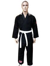Wolorf Usa single weave Bjj jiu jitsu uniform gi student in black color
