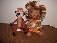 DISNEY The Lion King Broadway Musical Plush SIMBA and Timon Bean Bag Dolls w/Tag