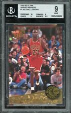1992 Fleer Ultra Basketball #1 Award Winners Michael Jordan BGS 9