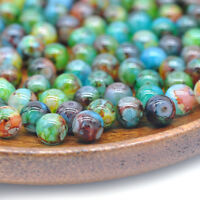 30PCS 8mm Double Color Glass Pearl Round Spacer Loose Beads Jewelry Making CN49