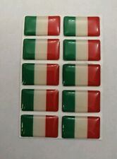 ITALY ITALIAN FLAG 3D DOMED BADGE LOGO EMBLEM STICKER GRAPHIC DECAL CAR RACING