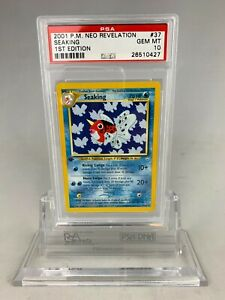 PSA 10 Gem Mint Pokemon 1st Edition Neo Revelation Seaking