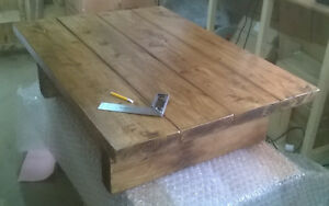 Large Coffee Table 110 x 78cm Solid Wood Handmade Chunky Rustic Reclaimed Style