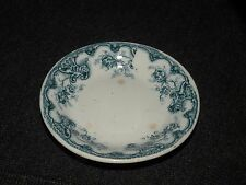 ANTIQUE CHILD'S Staffordshire transferware toy plate for a teaset teal