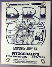 DRI (D.R.I.) / DRESDEN 45 Houston TEXAS (1987) Vintage Punk Flyer Fitzgerald's