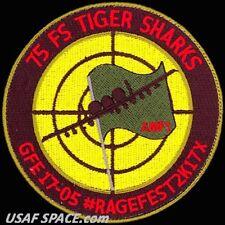 USAF 75th FIGHTER SQ -GREEN FLAG EAST 2017-05 -Moody AFB, GA- ORIGINAL VEL PATCH