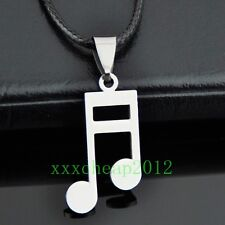 Lovely musical note stainless steel Pendant necklace