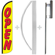 Open Yellowred 15 Tall Windless Swooper Feather Banner Flag Amp Pole Kit