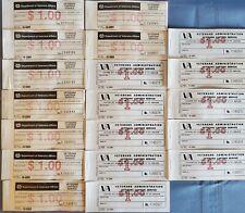 18pcs LOT: $1 Veterans Administration Canteen Service coupon books 1977 2002 NOS
